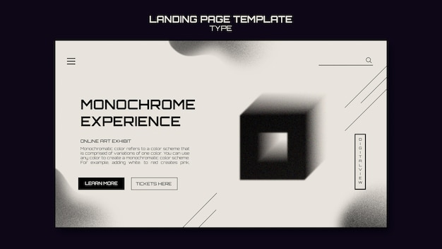 Modèle web d'art monochrome