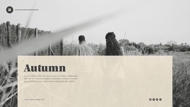 Modèle web automne noir et blanc