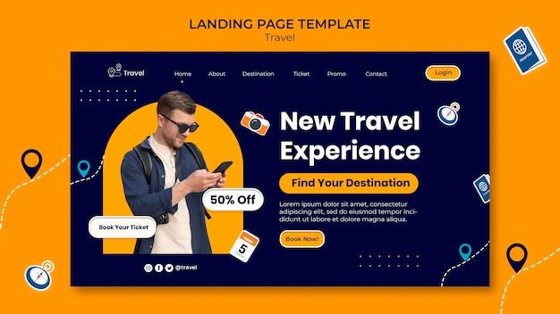 Modèle web d'aventure de voyage