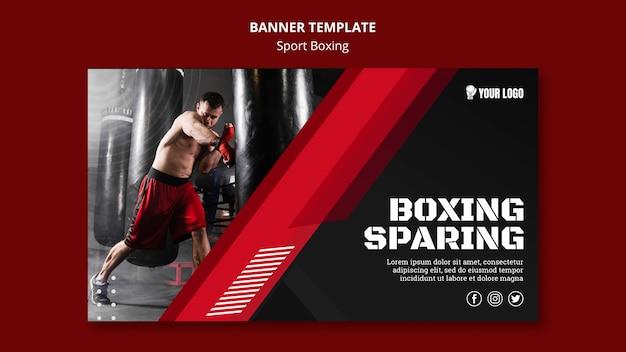 Modèle web de bannière épargnant de boxe