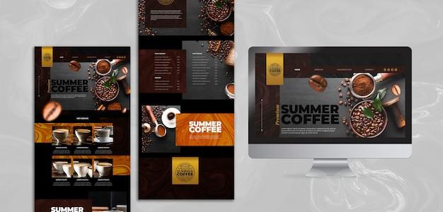 Modèle web de café