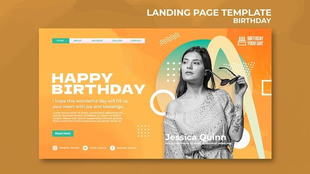 Modèle web de célébration d'anniversaire