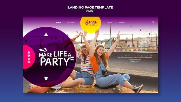 Modèle web de célébration de fête