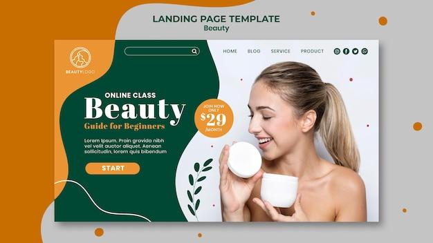 Modèle web de concept de beauté