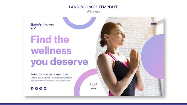 Modèle web de concept de bien-être