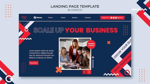 Modèle web de concept d'entreprise