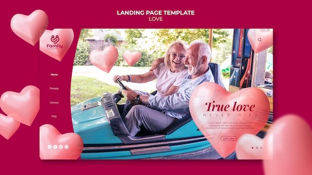 Modèle web de couple de personnes âgées