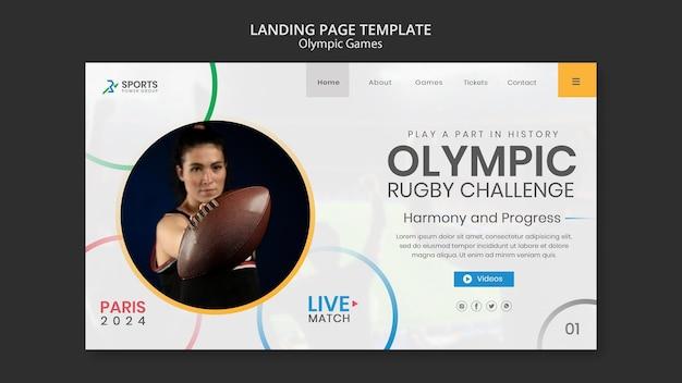 Modèle web de défi de rugby