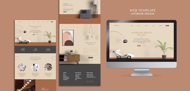 Modèle web de design d'intérieur