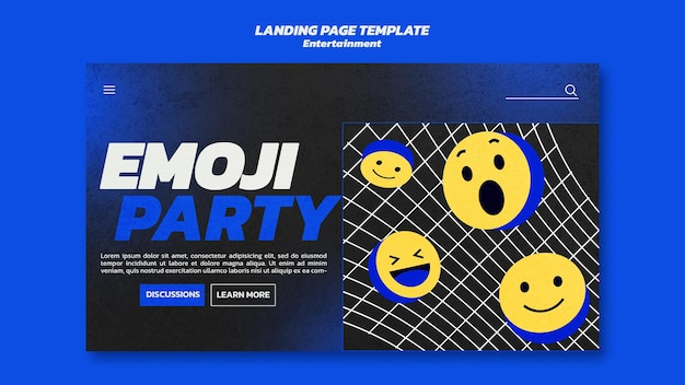 Modèle web de divertissement emoji