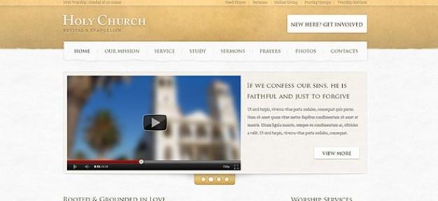 Modèle web de l'église vert