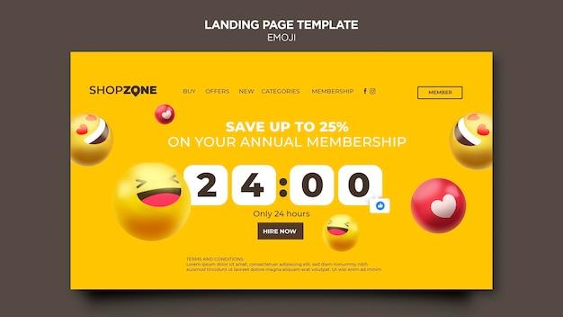 Modèle web emoji