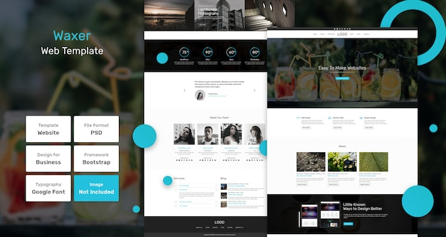 Modèle web d'entreprise waxer