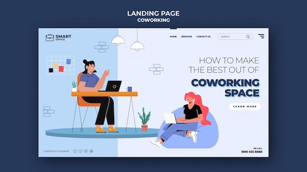 Modèle web d'espace de coworking
