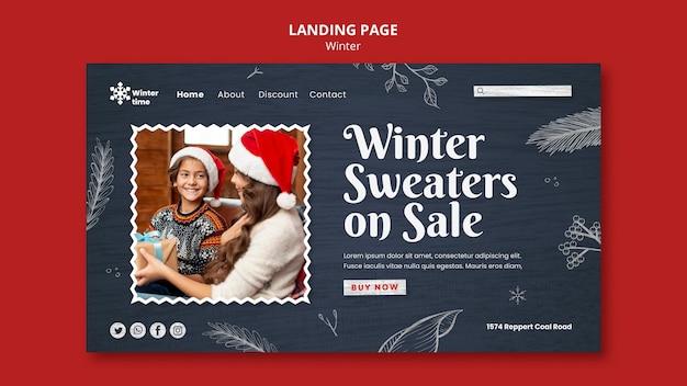 Modèle web de garde-robe d'hiver