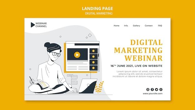 Modèle web illustré de marketing numérique