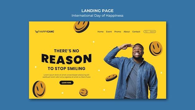 Modèle web de la journée du bonheur
