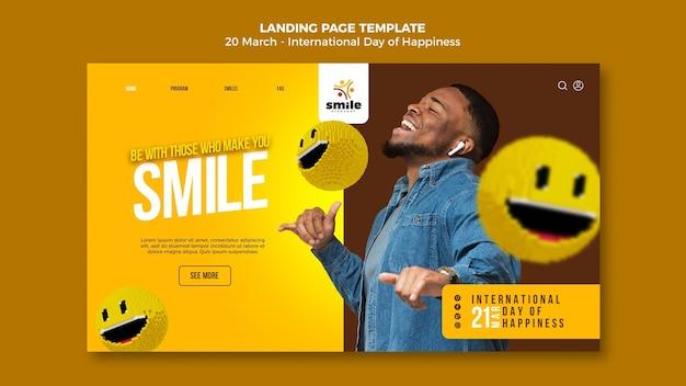 Modèle web de la journée internationale du bonheur