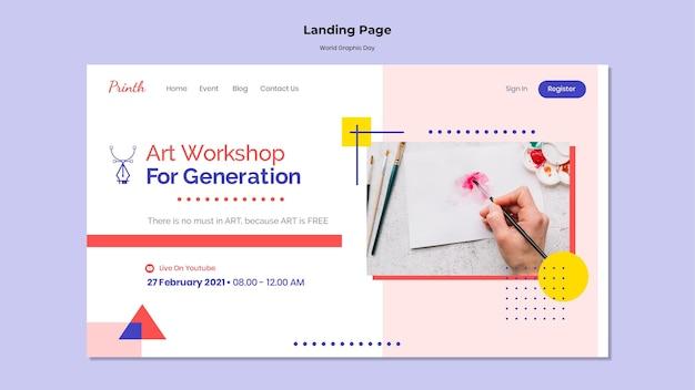 Modèle web de la journée mondiale du graphisme