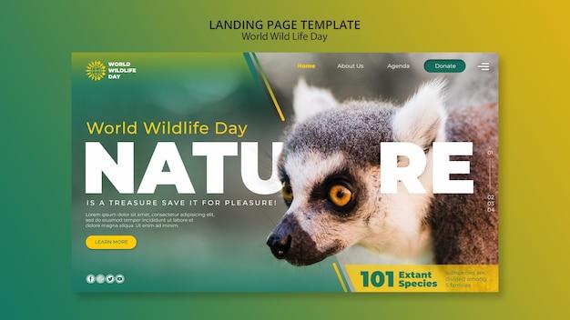Modèle web de la journée mondiale de la vie sauvage