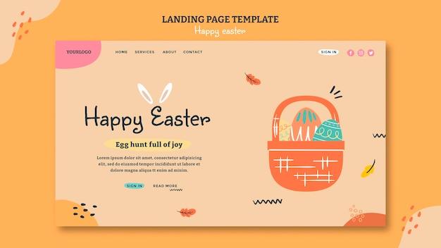 Modèle web de joyeuses pâques