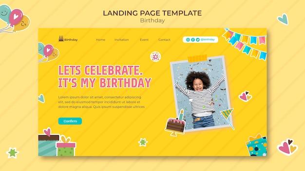 Modèle web de joyeux anniversaire