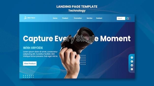 Modèle web de page de destination technologique
