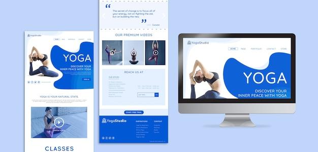 Modèle web pour le yoga fitness