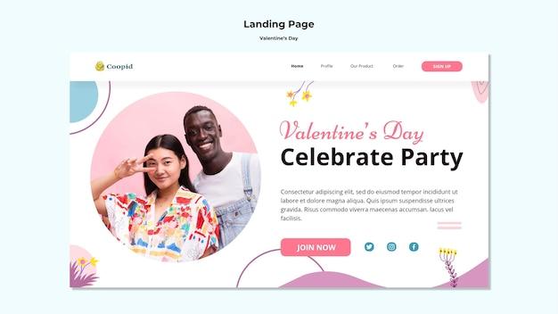 Modèle web de la saint-valentin avec photo