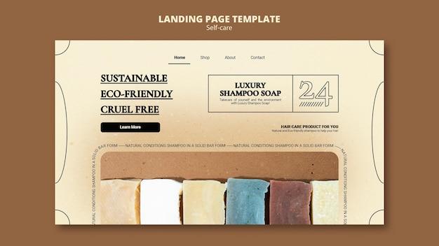 Modèle web de savon de shampooing