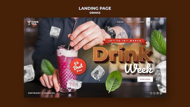Modèle web de semaine de boisson