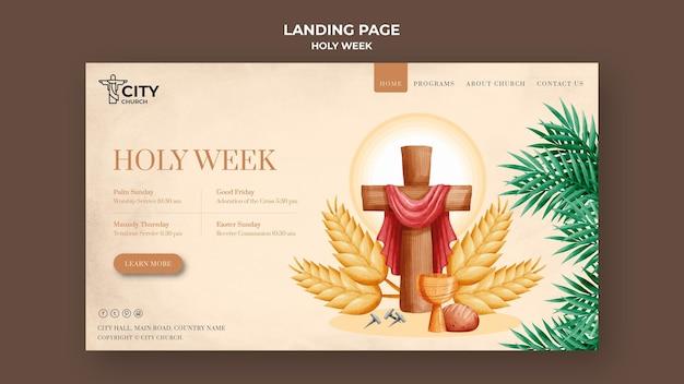 Modèle web de la semaine sainte
