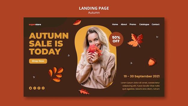 Modèle web de vente automne été