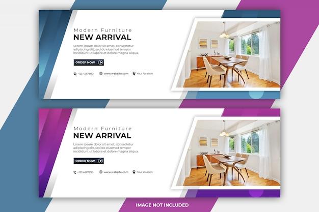 Modèles de couverture facebook pour meubles