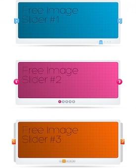 Des modèles de curseur en trois couleurs