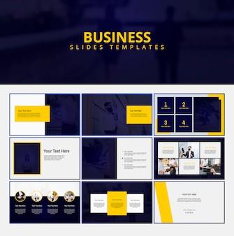 Modèles de diapositives d'affaires modernes