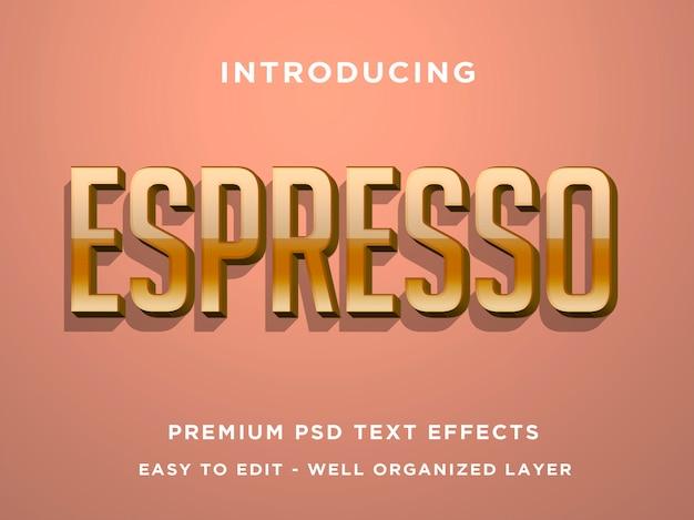 Modèles d'effets de texte 3d espresso