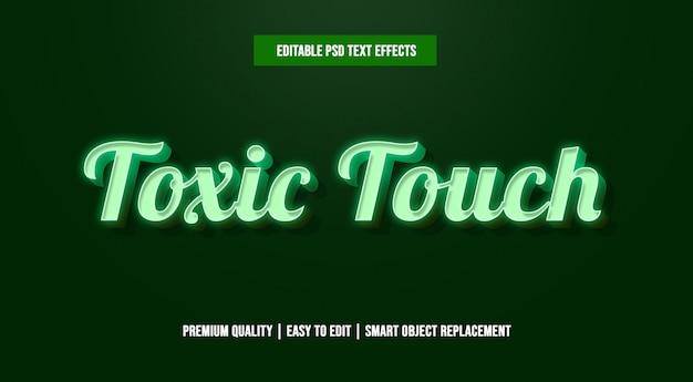 Modèles d'effets de texte modifiables au toucher toxique psd