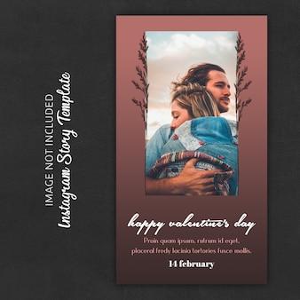 Modèles d'histoire instagram pour la saint-valentin