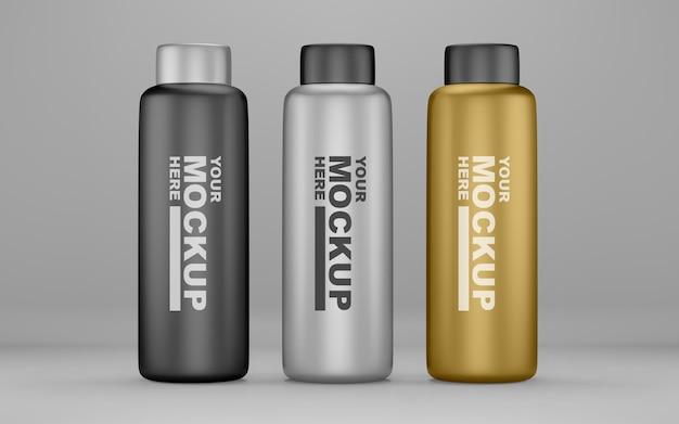 Modèles de maquette de bouteille d'eau réalistes modifiables