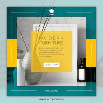 Modèles de médias sociaux de bannière de meubles