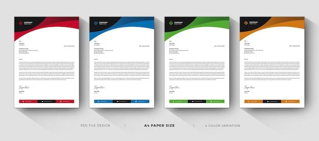 Modèles de papier à en-tête design professionnel et moderne