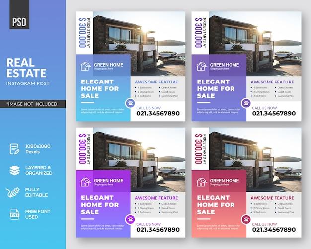 Modèles de publication instagram immobilier
