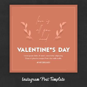 Modèles de publication instagram pour la saint-valentin