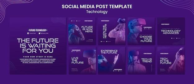 Modèles de publication instagram en réalité virtuelle