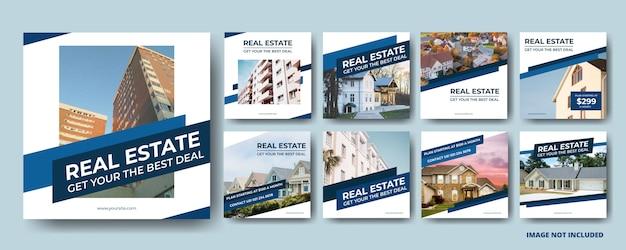 Modèles de publication sur les médias sociaux immobiliers