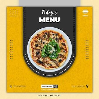 Modèles de publication sur les médias sociaux de la nourriture du ramadan