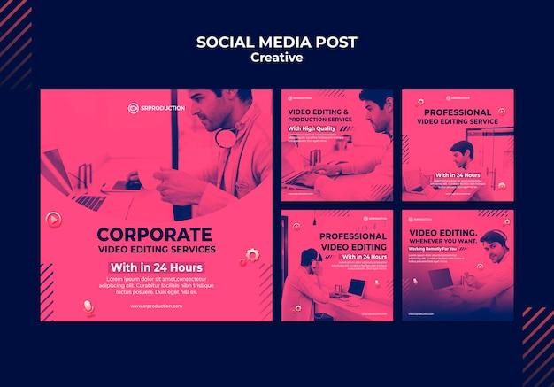 Modèles de publication de montage vidéo sur instagram