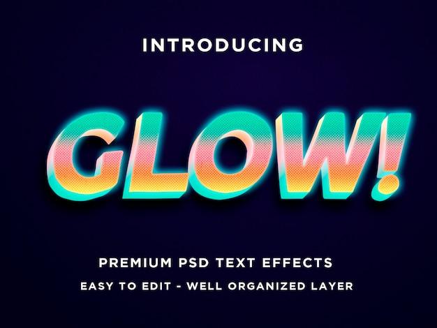 Modèles de texte 3d glow