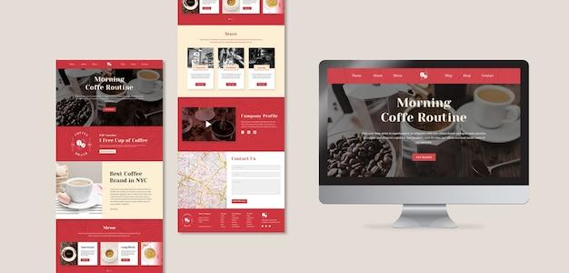 Modèles web délicieux de café